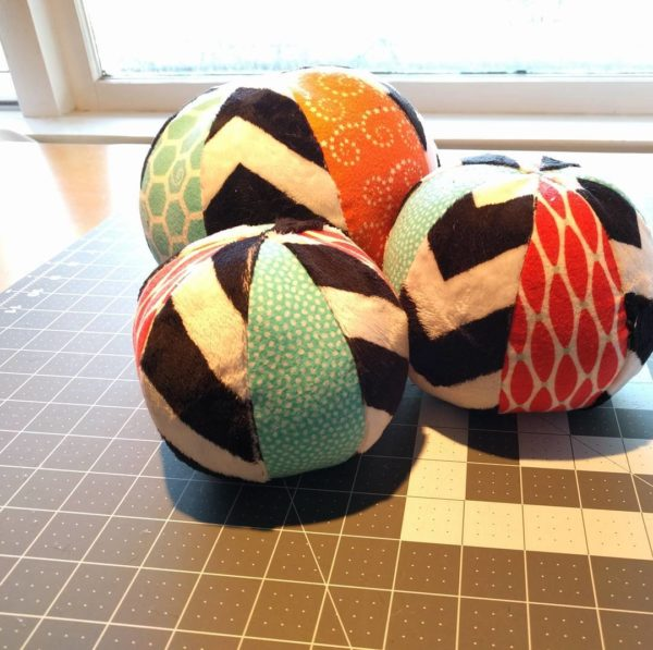 Just finished @purlsoho fabric beach balls!