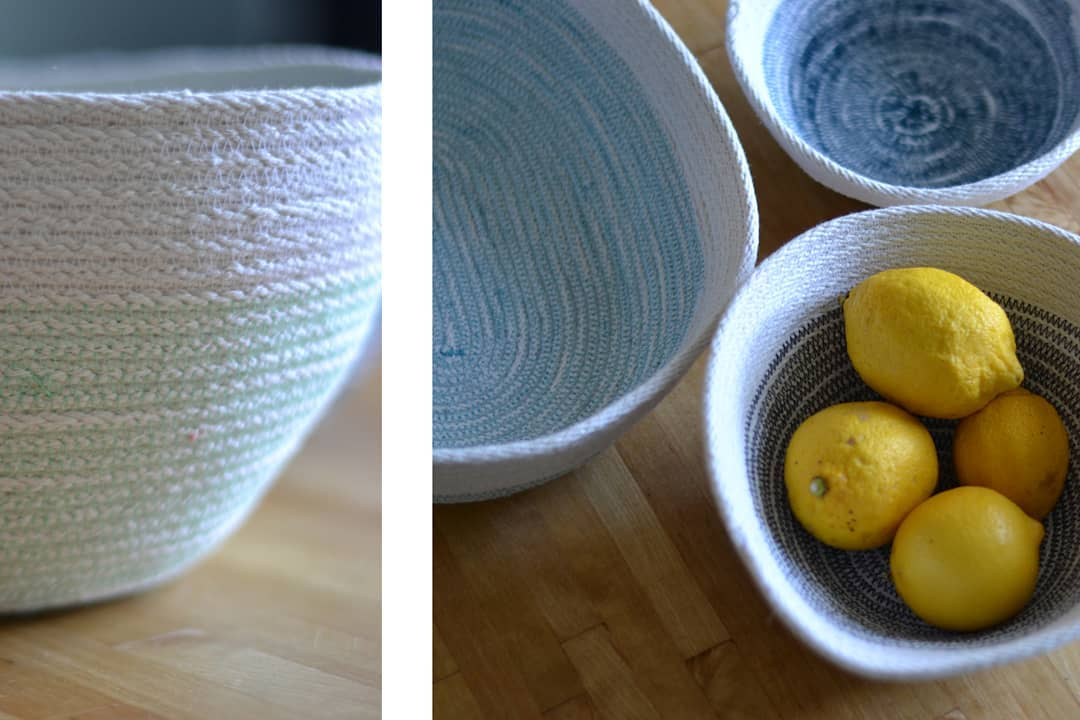 I want to keep making rope bowls, but I'm running out of space on my desk! makerproblems makersgonnamake sewistsofinstagram sewing sewingforfriends
