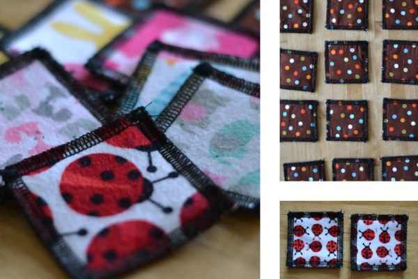 Recent make! Memory game with adorable flannel