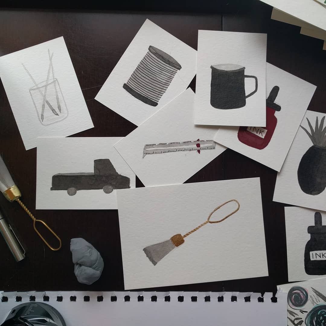 Morning ink session inktober