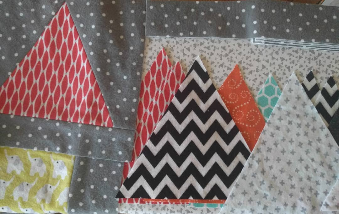 All the pretty colours and prints! wip makersgonnamake sewingforbabies