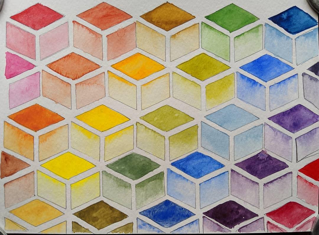 Colour experiments watercolour illustration yyjarts