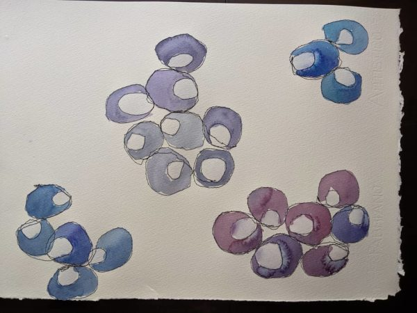 Series of watercolours based on cells @visa_art_school